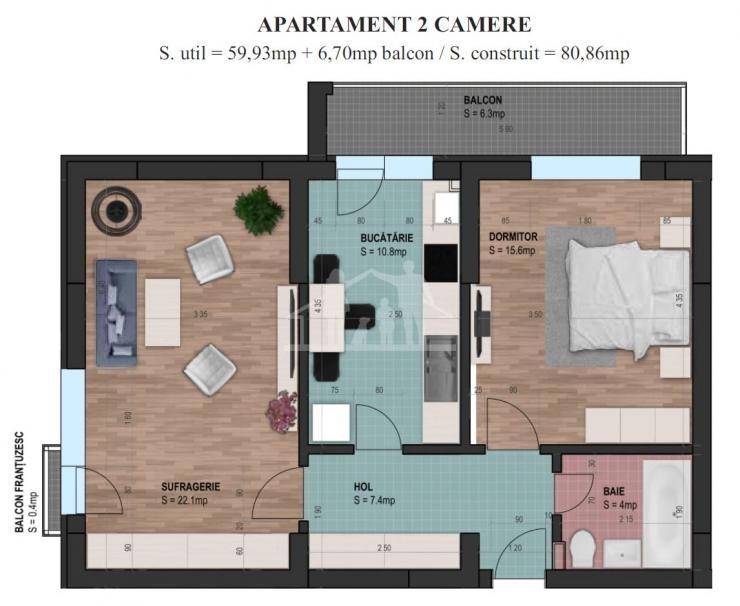 Cumpara un apartament NOU cu predare in Mai 2021